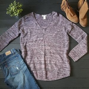 H&M Conscious Purple Speckled Sweater